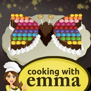 Butterfly Chocolate Cake – Cooking with Emma game