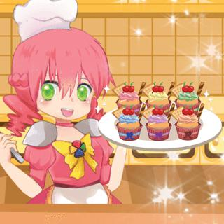 Cooking Super Girls: Cupcakes game