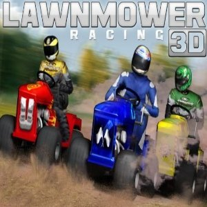 Lawnmower Racing 3D game