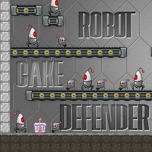 Robot Cake Defender game