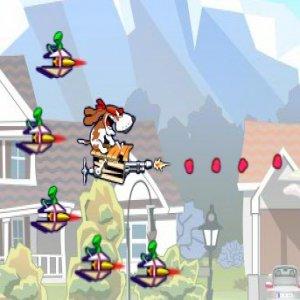Spunky vs Aliens game