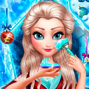 Ice Queen Christmas Makeover game
