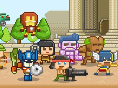 Awesome Happy Heroes game