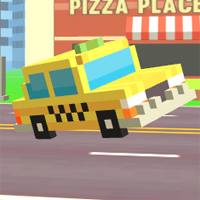 Pixel Road Taxi Depot game