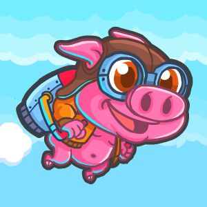 Rocket Pig – Tap to Fly game
