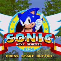 Sonic Next Genesis game