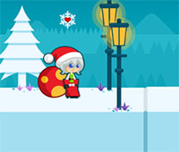 Santa Girl Runner game