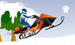 Snowmobile Stunt game