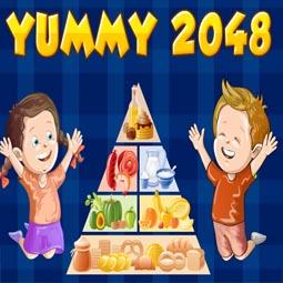 Yummy 2048 game