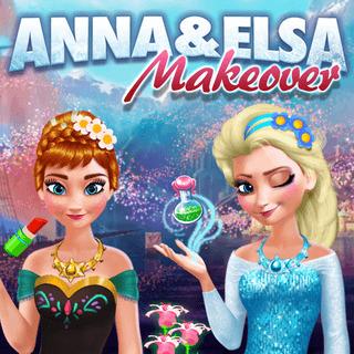 Anna & Elsa Makeover game