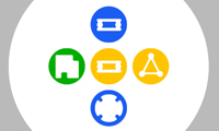 Colored Shapes game